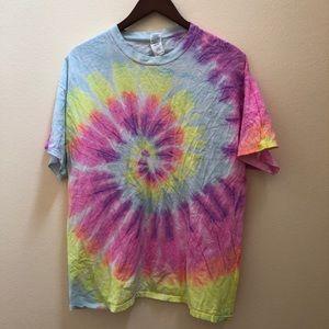 Vintage neon multi colored tie dye shirt